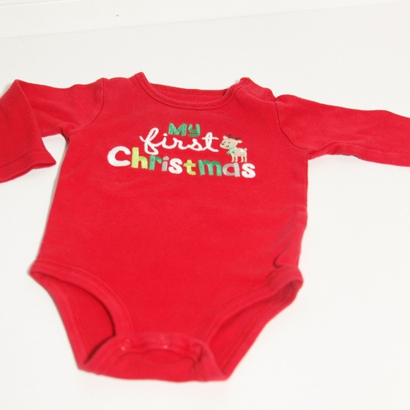 carters my first christmas onesie